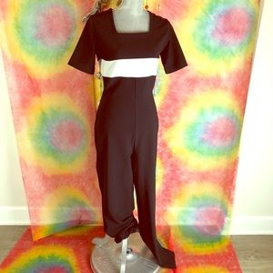 Apart Impressions black & white jumpsuit 8tall NWT